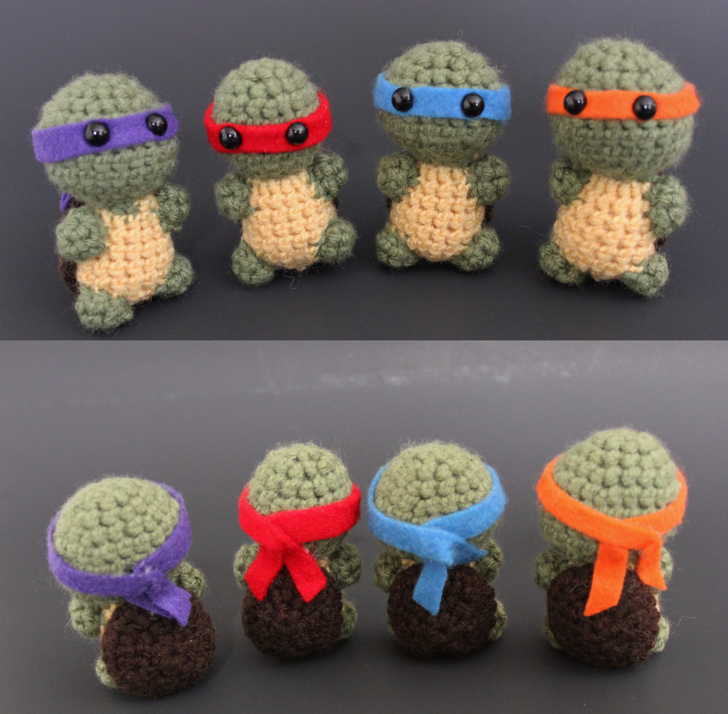 Olaf Amigurumi Crochet Pattern : Amigurumi Ninja Turtles by Tessa4244 on DeviantArt