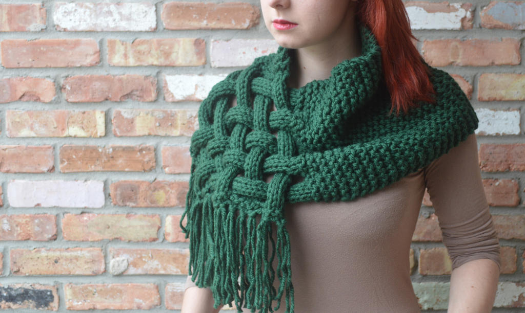 Knit, woven scarf (OC)