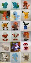All of the crochet Pokemon!