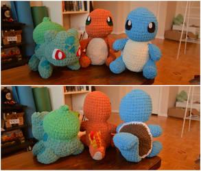 Crochet Kanto Starters