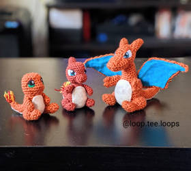 I made the Charmander evolution set!