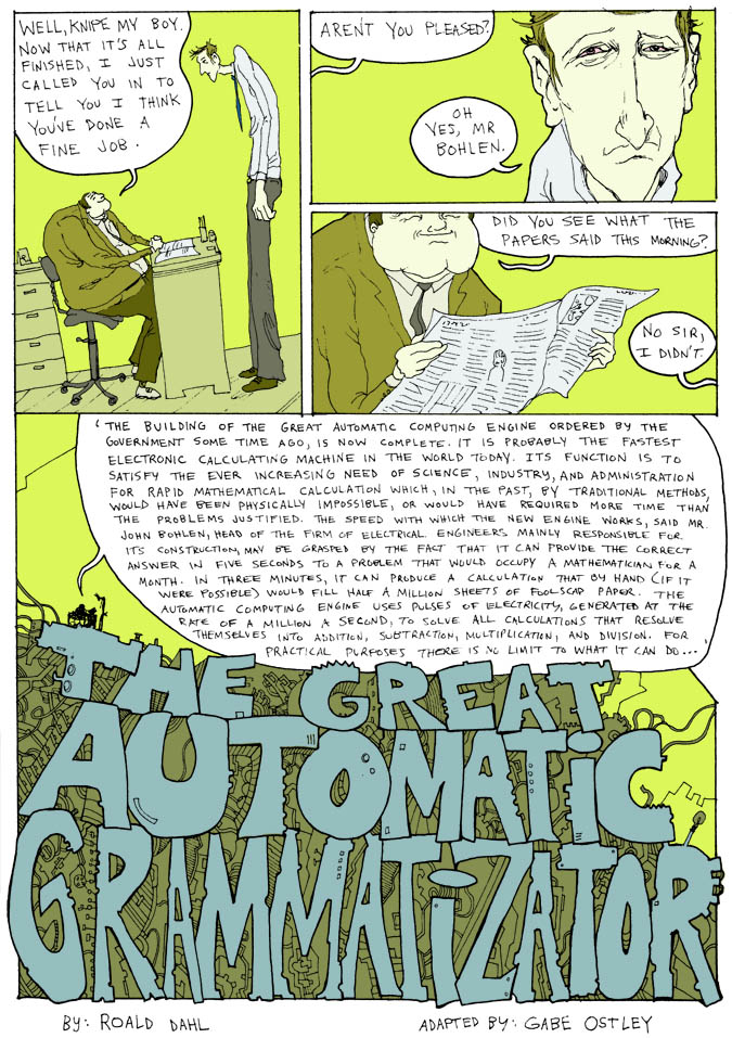 The Great Automatic Grammatizator pg. 1