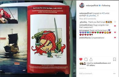 Red Sonja in Red Sonja Artist's Spotlight #25