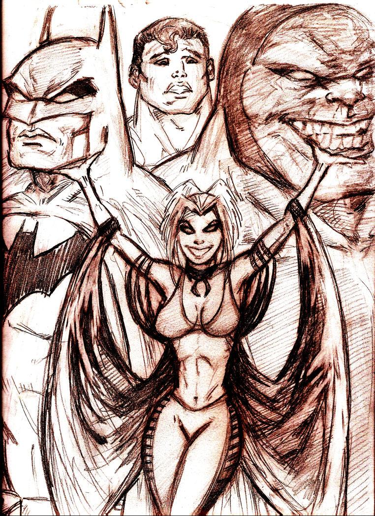 Superman Batman Apocalypse by MisterHydesSon