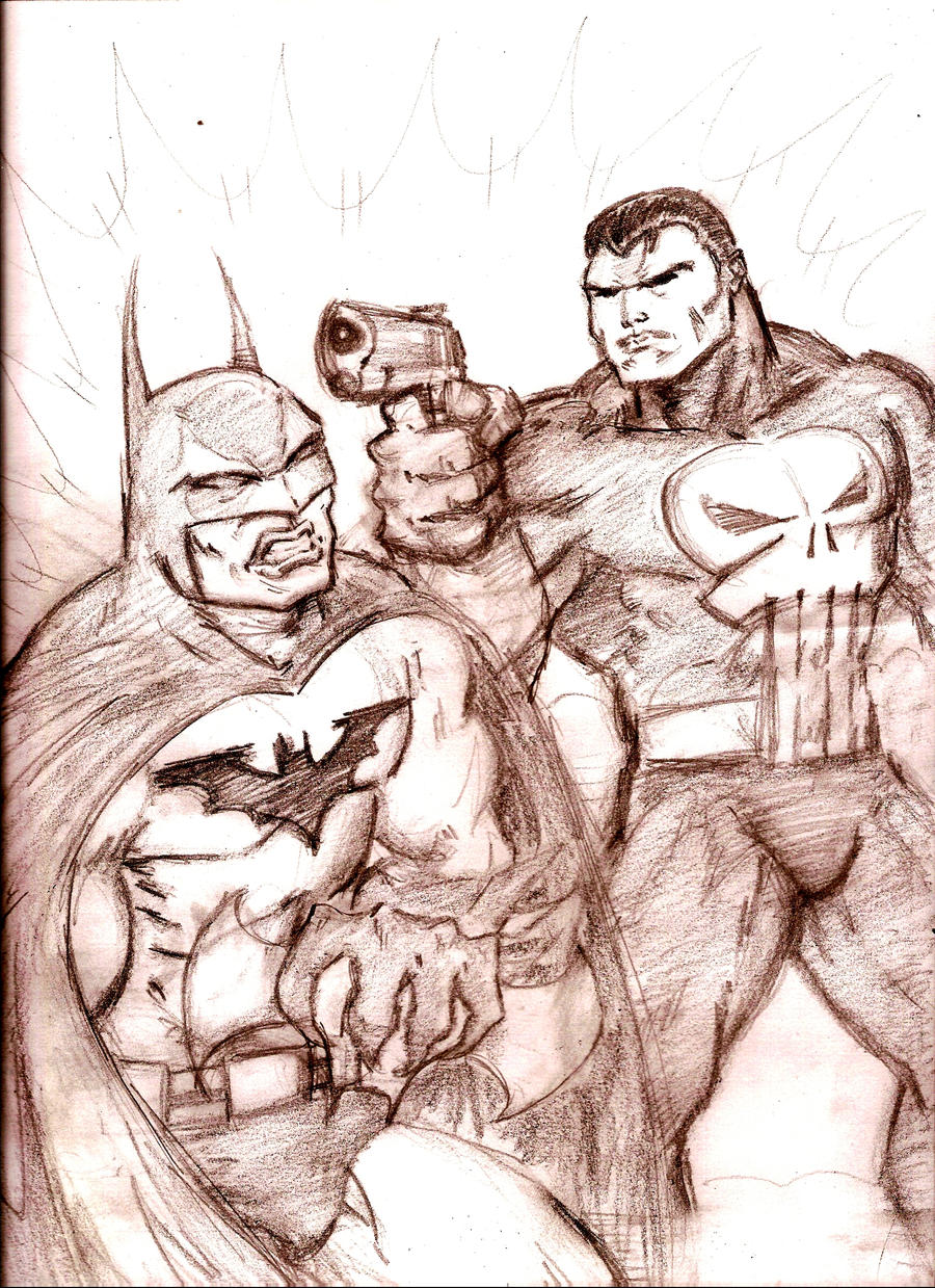 Who Would Win?  Punisher vs. Batman by MisterHydesSon