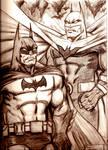 Batman vs Justice Lord Batman
