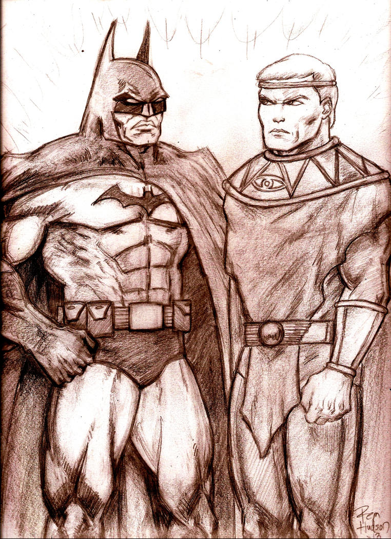 Ozymandias vs Batman by MisterHydesSon