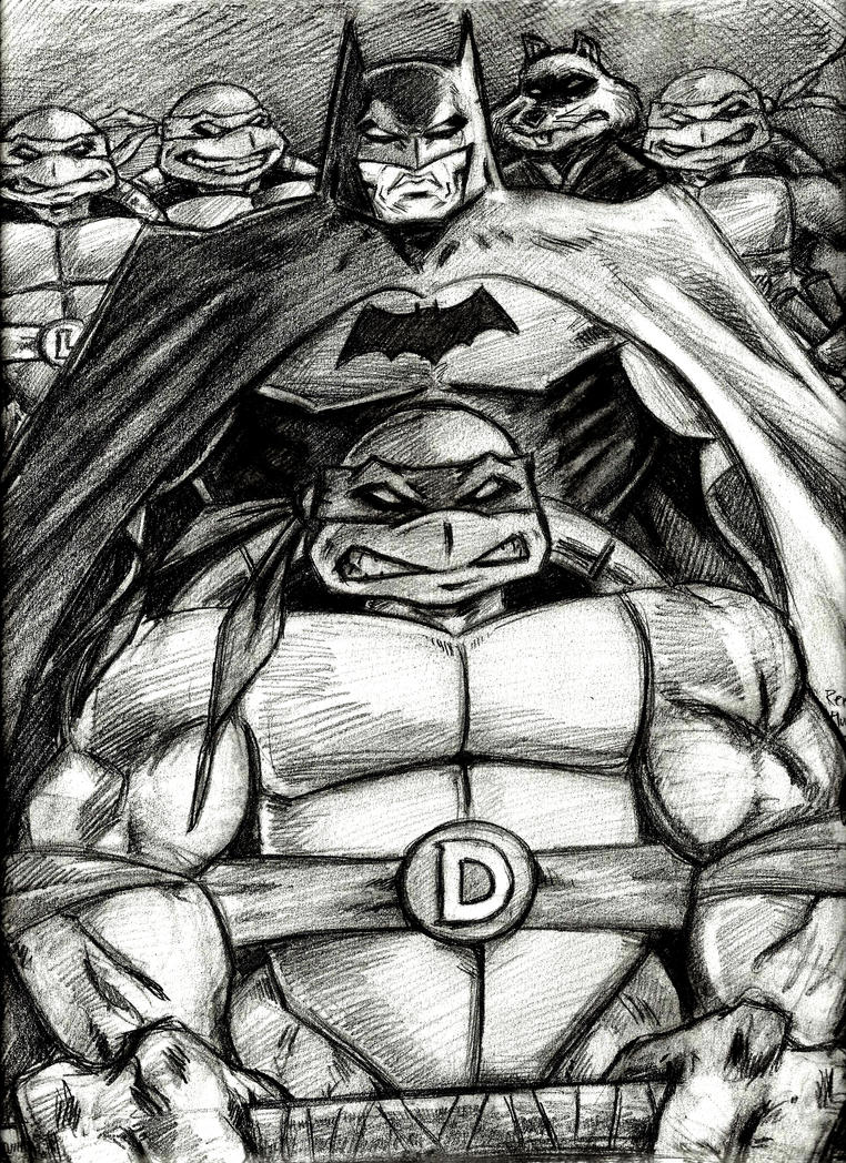 Donatello and The Dark Knight by MisterHydesSon