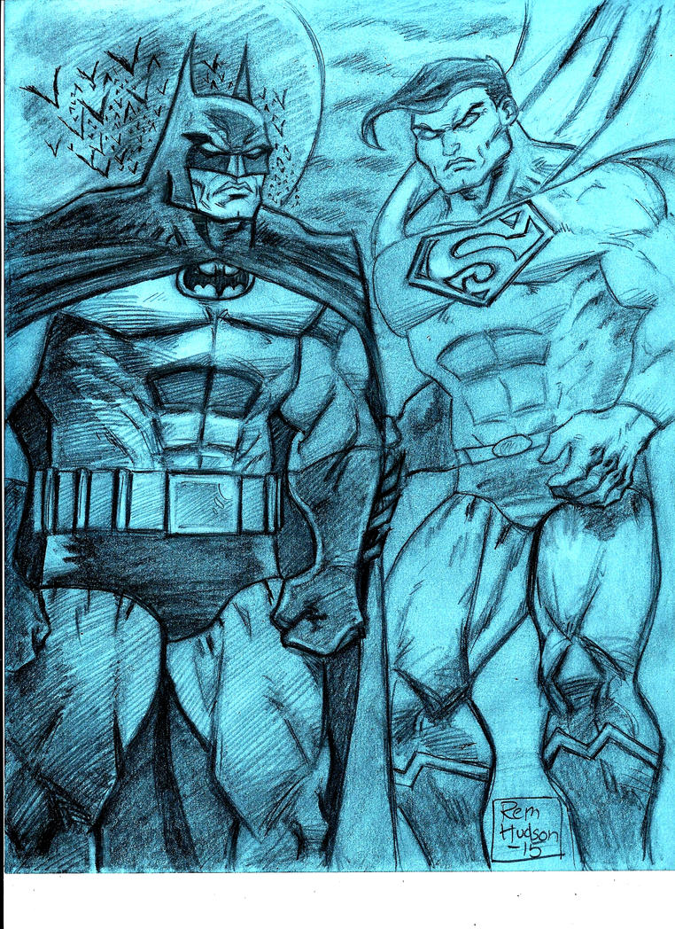 Bruce and Clark, World's Finest by MisterHydesSon