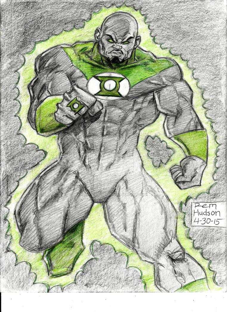 John Stewart Green Lantern by MisterHydesSon