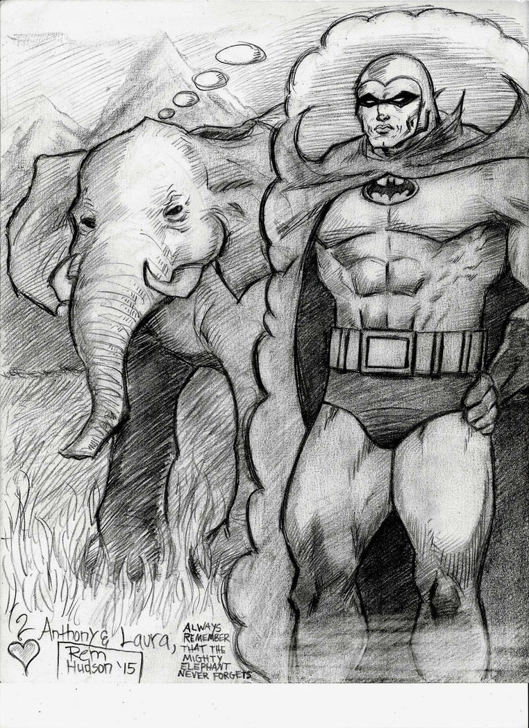 Phantom Batman and the Mighty Elephant by MisterHydesSon