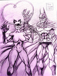 Catwoman and Batman: Entangled  by MisterHydesSon