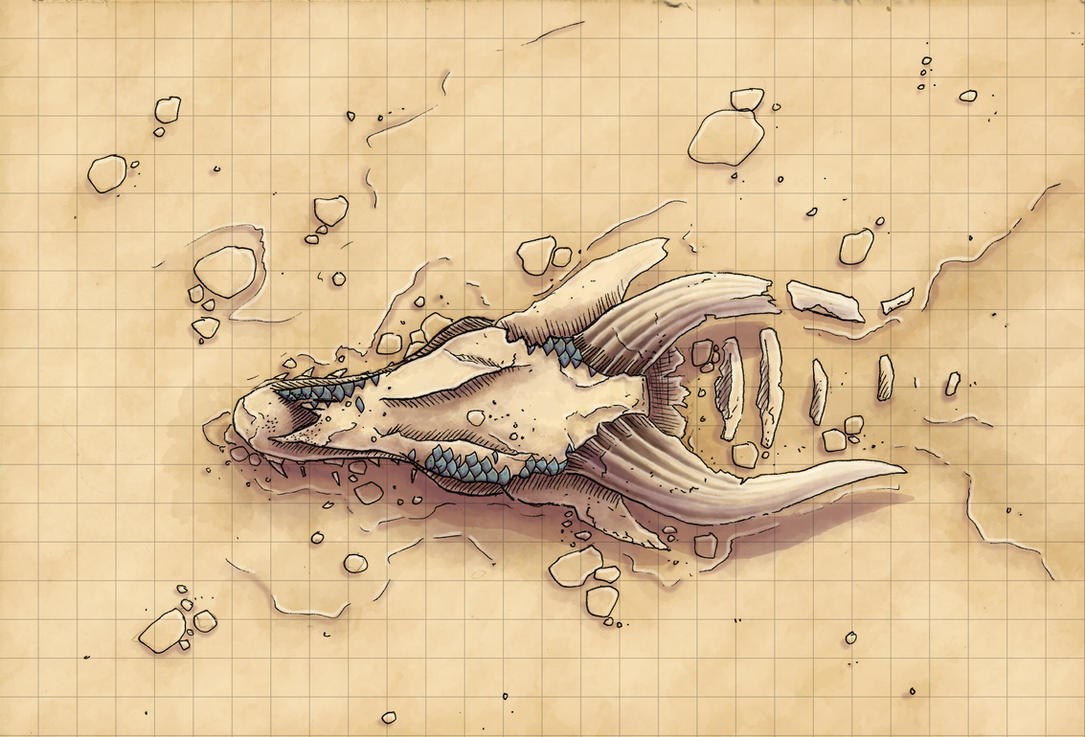 Desert Maps Dragon Skull By Caeora On Deviantart