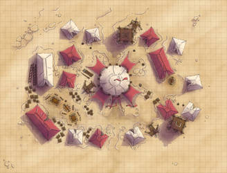 Desert Maps: Army Encampment by Caeora