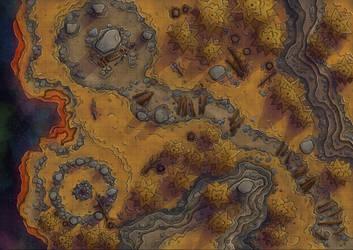 Planes Maps: Ysgard by Caeora