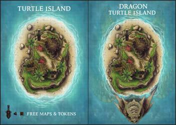 Dragon Turtle Island by Caeora