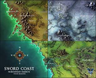 Sword Coast Four Seasons by Caeora