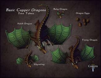Copper Dragons -Mega Dragon Token Pack-