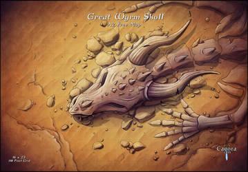 Great Wyrm Skull Display
