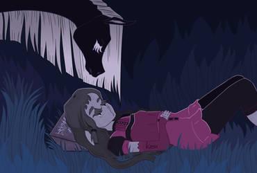 where she's sleeping