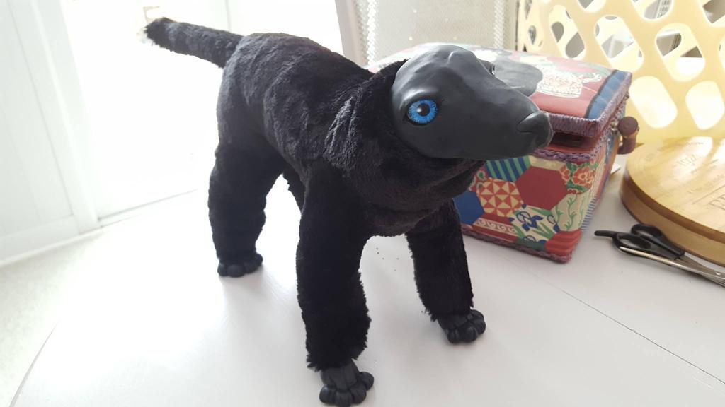 Anubis Jackal/Dog Art Doll in Progress by sapphirepup007 on