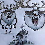 Deerclops' bunch of drawings