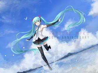 Hatsune Miku 10th Anniversary by Temachii