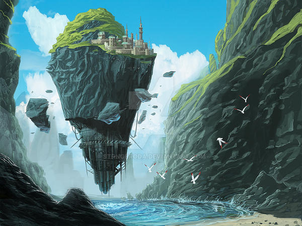 Floating-fortress by strngbroda