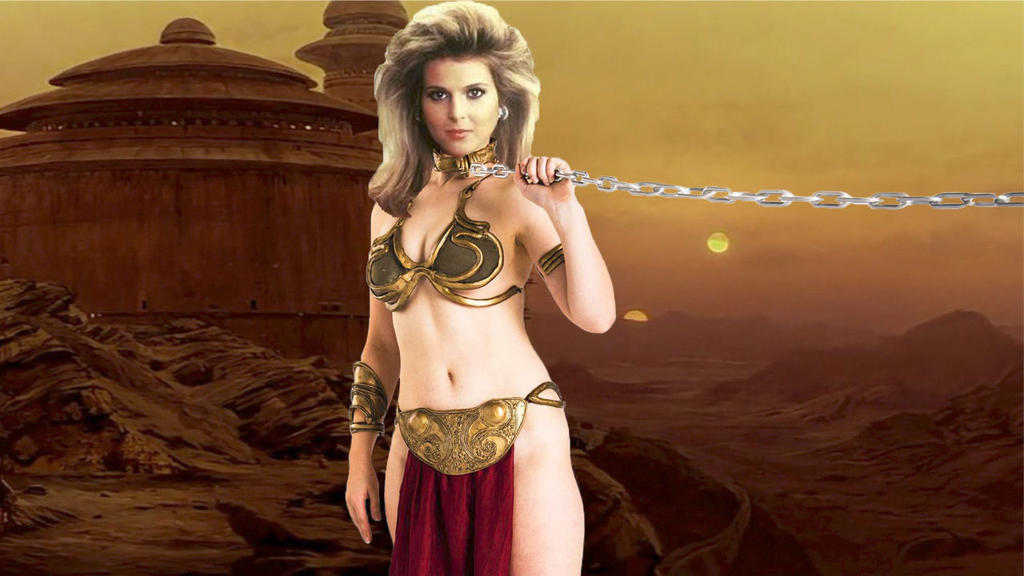 Catherine Oxenberg As Slave Leia by RoyPrince