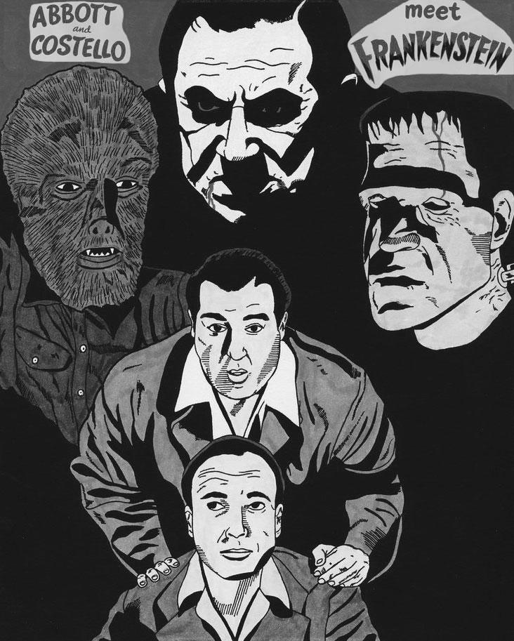 Abbott And Costello Meet Frankenstein (BAndW) by RoyPrince