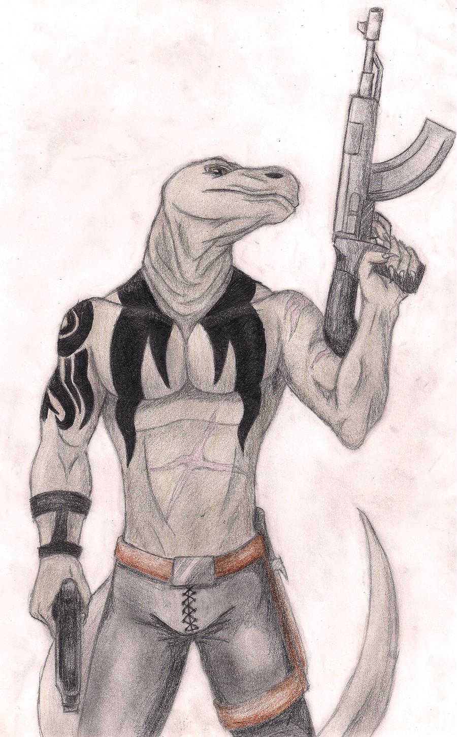Mah Komodo Dragon By Kalfiezfangwyrm