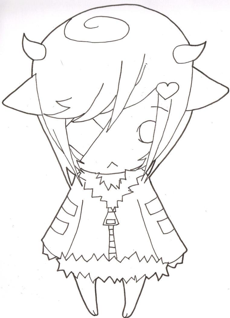 Chibi Lineart : Chibi line art by kuroakuma on deviantart
