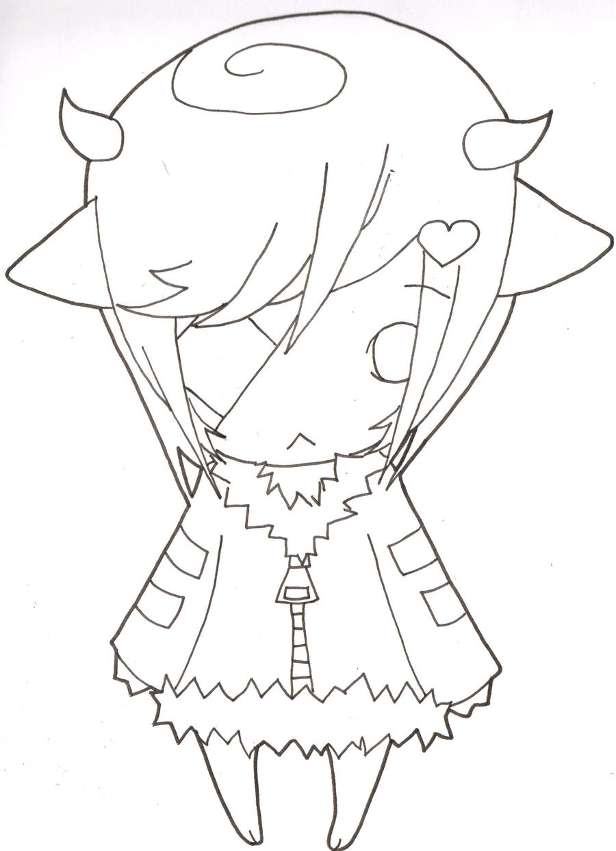 Line Art Body : Chibi line art by kuroakuma on deviantart