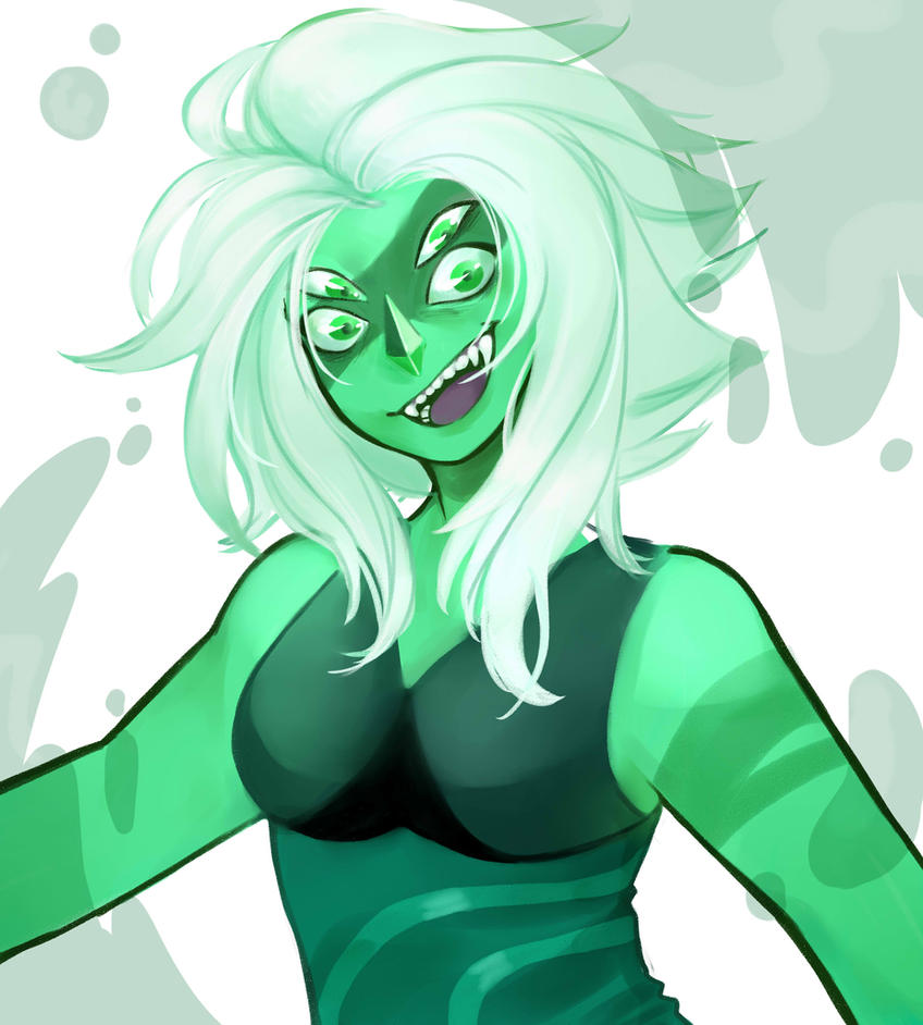 Lapis Lazuli + Jasper fusion Casually drawing a psycho..yeeaaah!