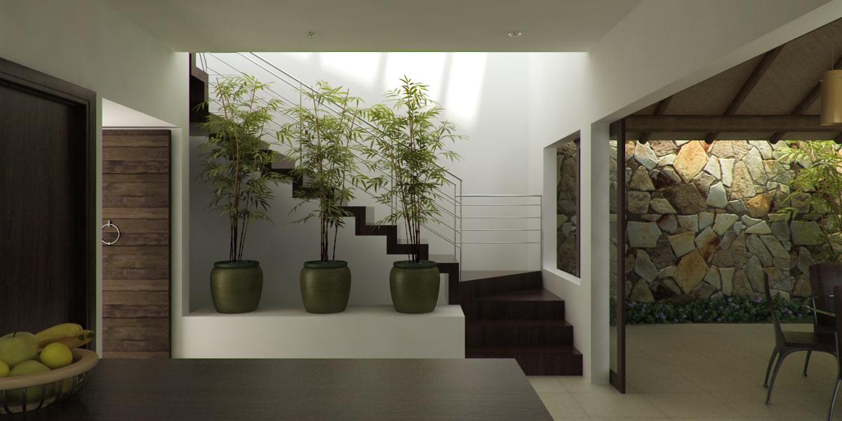 Casas cocinas mueble escaleras para casa - Escaleras interiores para casas ...