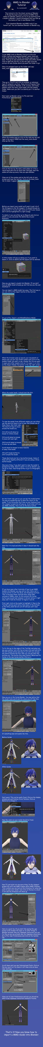 MMD to Blender Tutorial by crazy4anime09