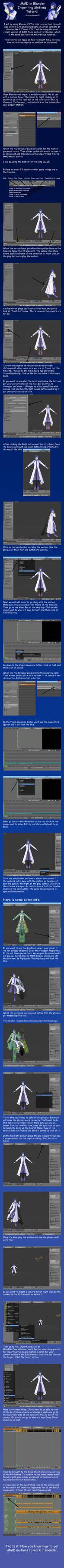 MMD in Blender Importing Motions Tutorial
