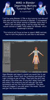 MMD in Blender 2.79 Importing Motions Tutorial
