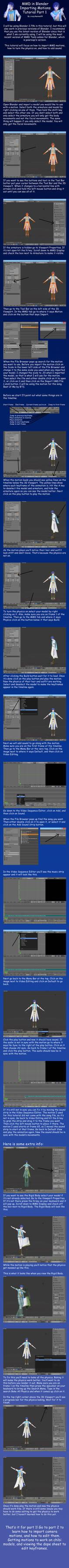 MMD in Blender 2.79 Importing Motions Tutorial