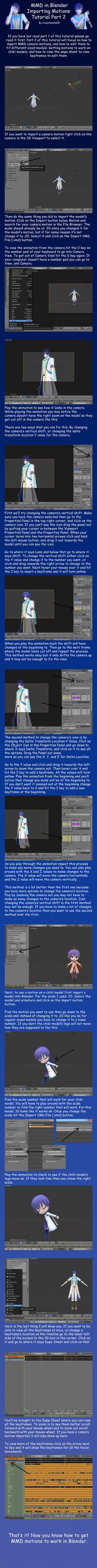 MMD in Blender 2.79 Importing Motions Tutorial 2