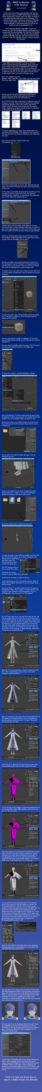 MMD to Blender 2.92 Tutorial