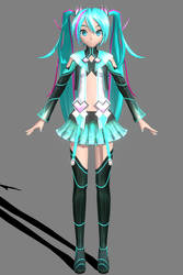FT Anode Electronica Miku by ROKI-P