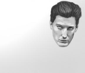 Portrait practice W.I.P. 3 by Qayinn