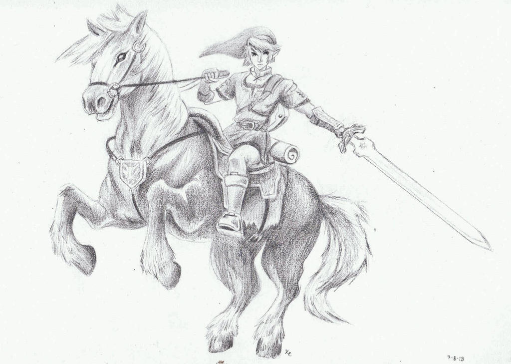 Link And Epona By Onyx Forerunner On DeviantArt