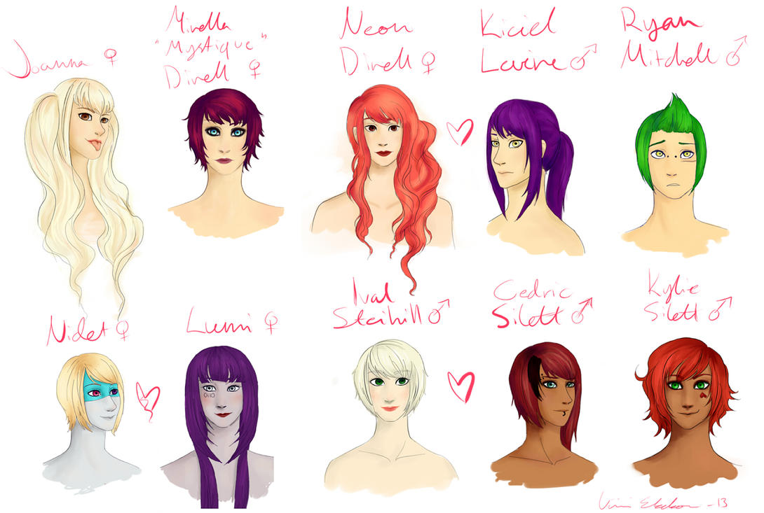 Some of my OC's by Froceit