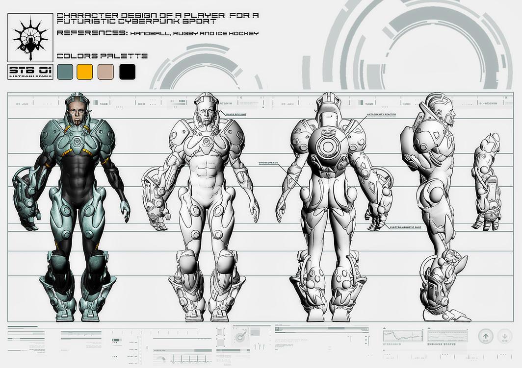 Character Design Template Deviantart : Grindball character design by fabiolistrani on deviantart