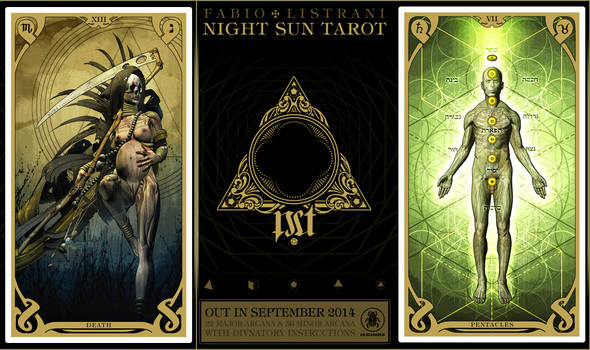 NIGHT SUN TAROT - XIII - VIIp