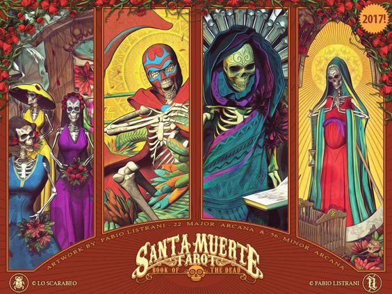 24ed46b61a4cb4f8d62fa2640bcb3ab8--santa-muerte-tar by FabioListrani