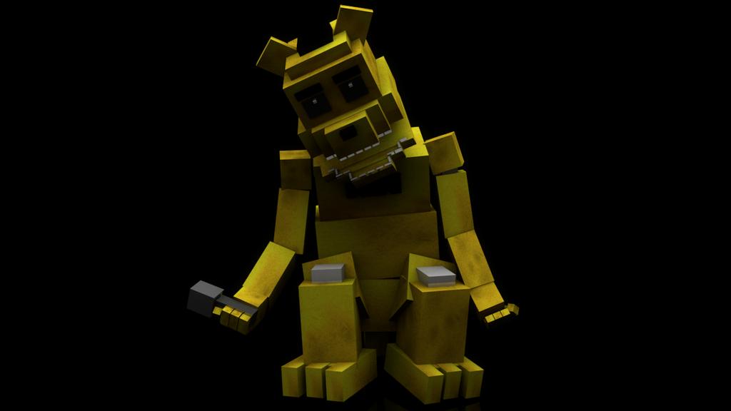 Blocky golden freddy by ervingamez on deviantart
