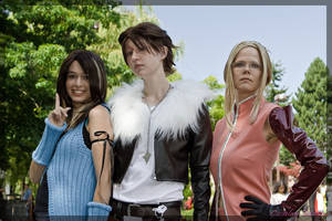 Rinoa, Squall and Quistis by FightingDreamersPro